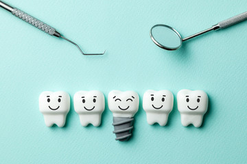 Dental implant cartoon