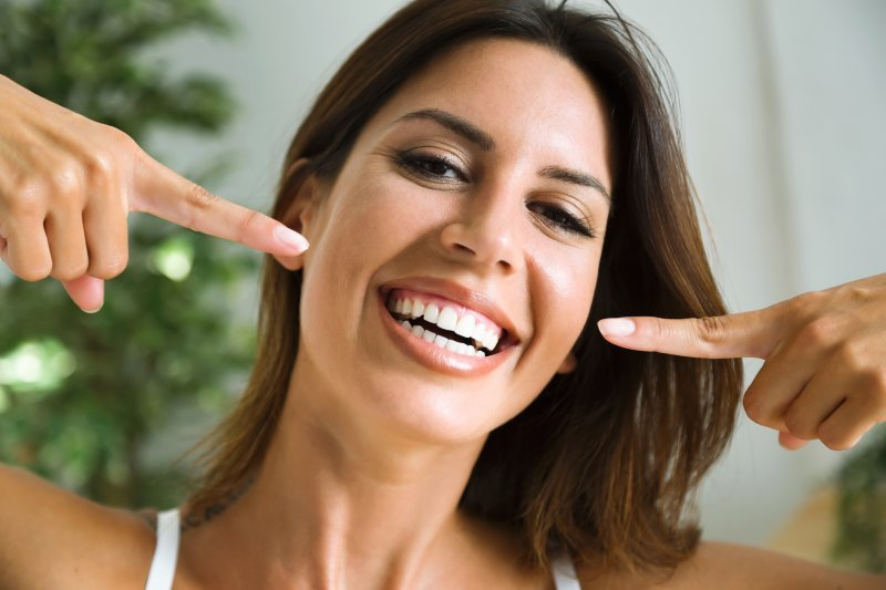 Woman after cosmetic dentistry